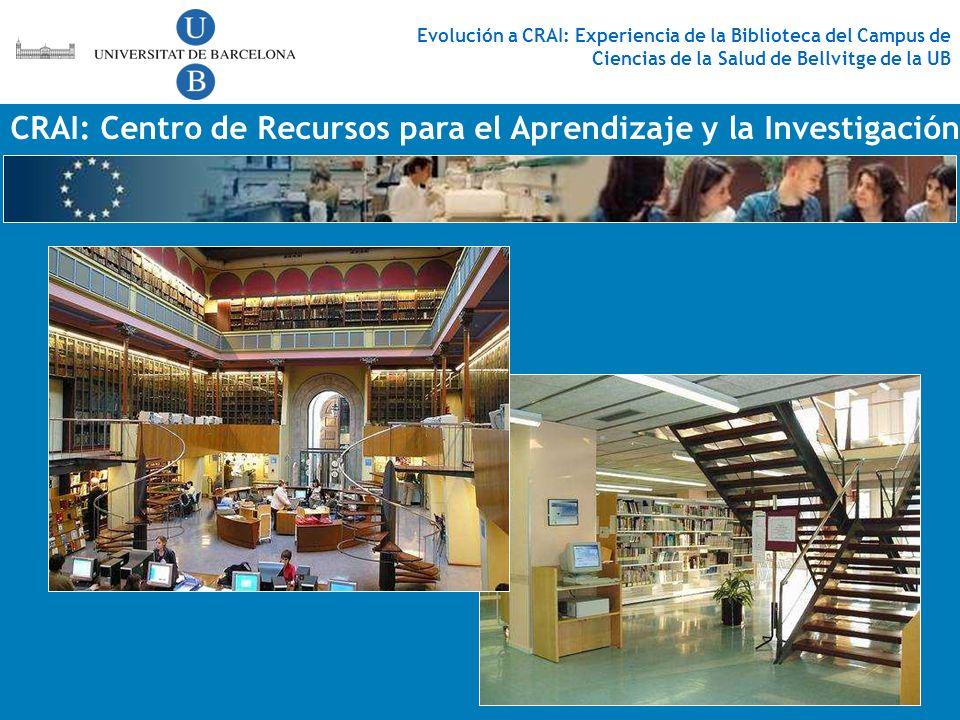 CRAI: Centro de Recursos para el Aprendizaje y la Investigación Evolución a CRAI: Experiencia de la Biblioteca del Campus de Ciencias de la Salud de B