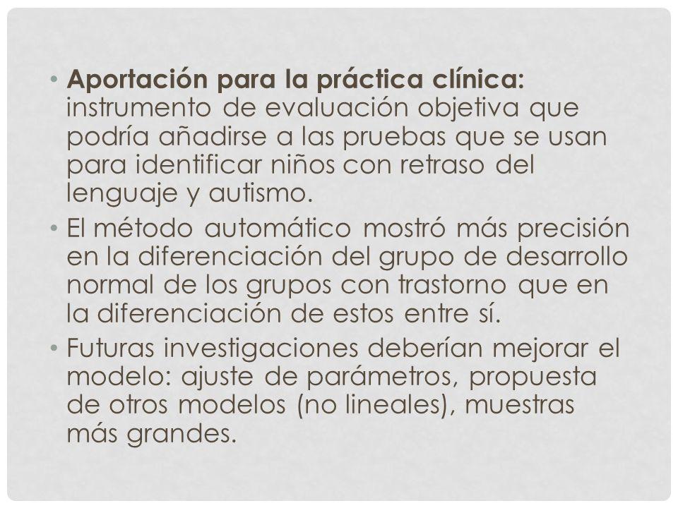 Aportación para la práctica clínica: instrumento de evaluación objetiva que podría añadirse a las pruebas que se usan para identificar niños con retra