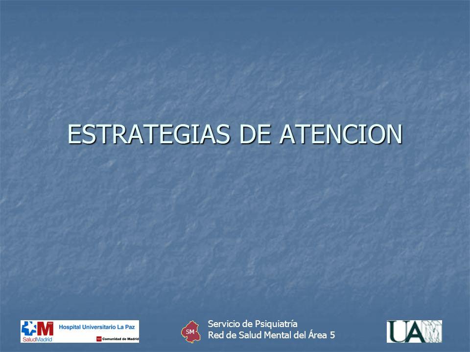 ESTRATEGIAS DE ATENCION Servicio de Psiquiatría Red de Salud Mental del Área 5 SM