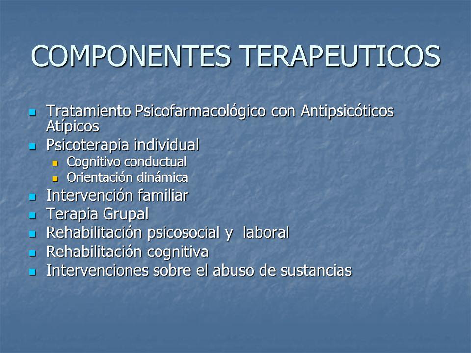 COMPONENTES TERAPEUTICOS Tratamiento Psicofarmacológico con Antipsicóticos Atípicos Tratamiento Psicofarmacológico con Antipsicóticos Atípicos Psicote