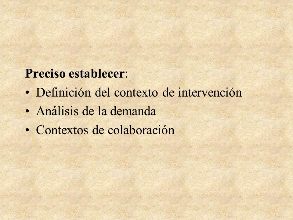 Intervención psicosocial: Sintaxis de la intervención 1.El vinculo con el otro, con los otros 2.El profesional incluido en el sistema de intervención.