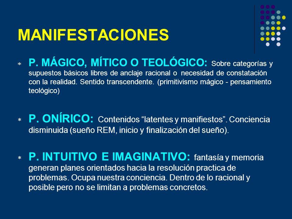 MANIFESTACIONES P. MÁGICO, MÍTICO O TEOLÓGICO: Sobre categorías y supuestos básicos libres de anclaje racional o necesidad de constatación con la real