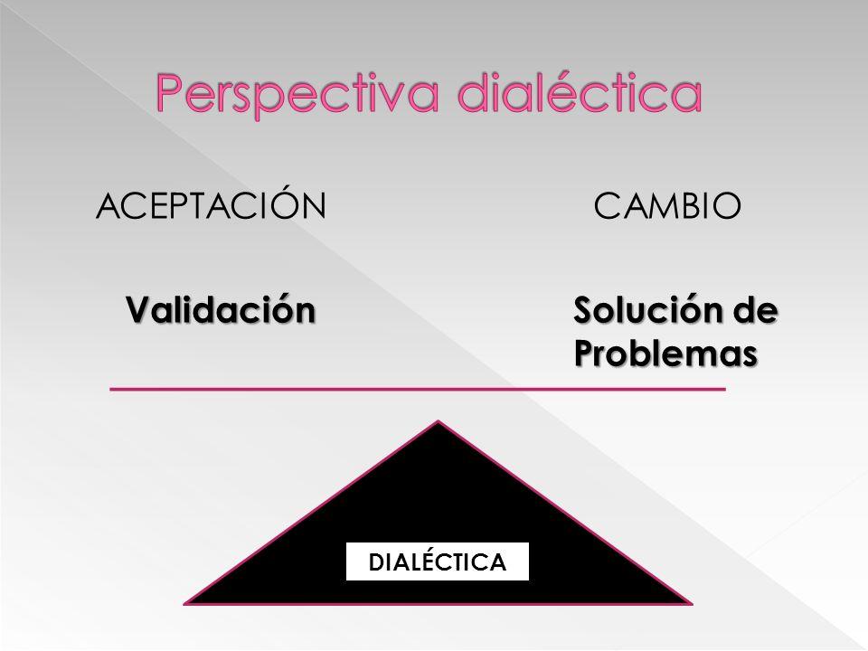 ACEPTACIÓN CAMBIO ValidaciónSolución de Problemas ValidaciónSolución de Problemas DIALÉCTICA