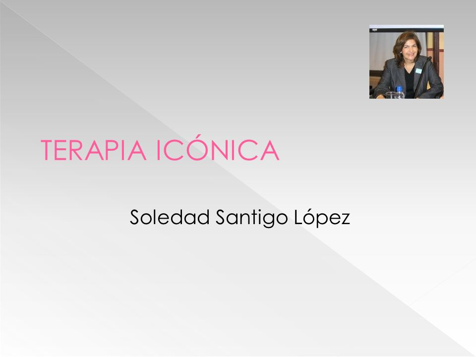 TERAPIA ICÓNICA Soledad Santigo López