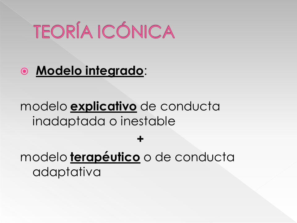 Modelo integrado : modelo explicativo de conducta inadaptada o inestable + modelo terapéutico o de conducta adaptativa