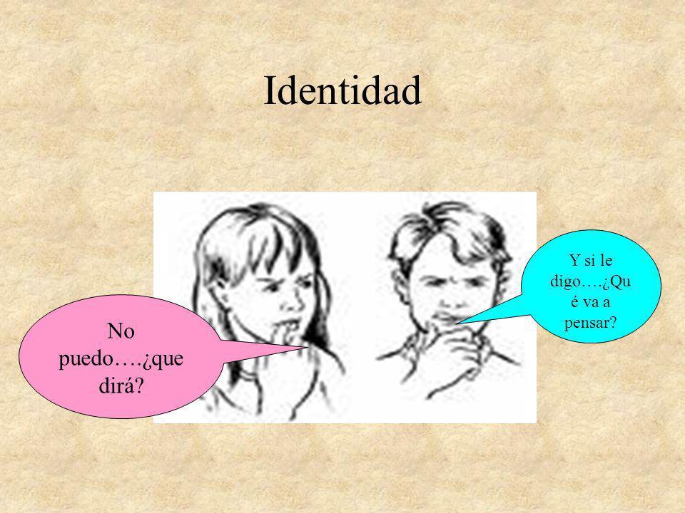 Identidad Y si le digo….¿Qu é va a pensar? No puedo….¿que dirá?