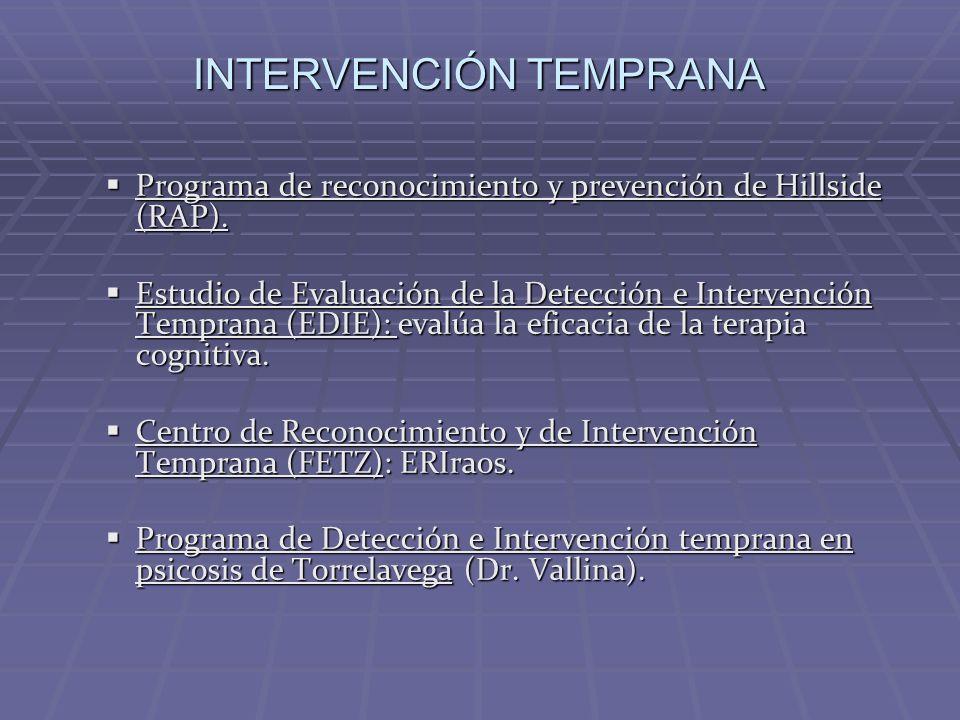 Programa de reconocimiento y prevención de Hillside (RAP). Programa de reconocimiento y prevención de Hillside (RAP). Estudio de Evaluación de la Dete