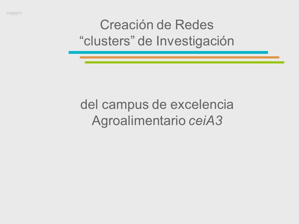 Creación de Redes clusters de Investigación del campus de excelencia Agroalimentario ceiA3