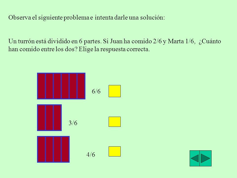 Ahora realiza tú las siguientes sumas y elige la respuesta correcta a)2/5+3/5