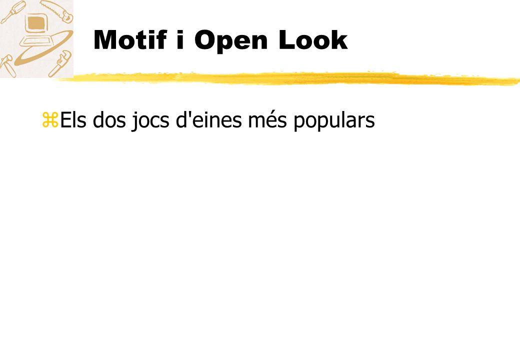 Motif i Open Look zEls dos jocs d'eines més populars