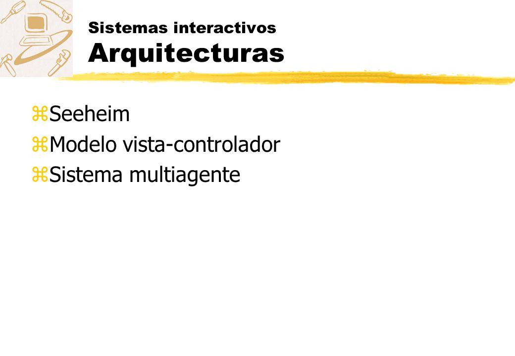 Sistemas interactivos Arquitecturas zSeeheim zModelo vista-controlador zSistema multiagente