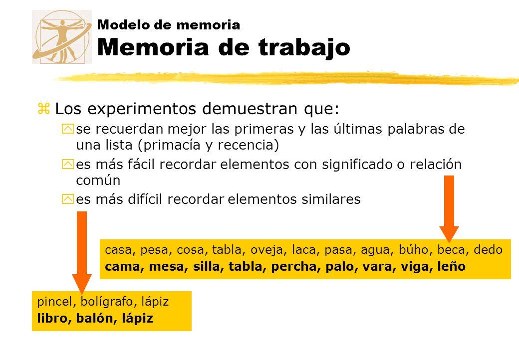 zLos experimentos demuestran que: yse recuerdan mejor las primeras y las últimas palabras de una lista (primacía y recencia) yes más fácil recordar el