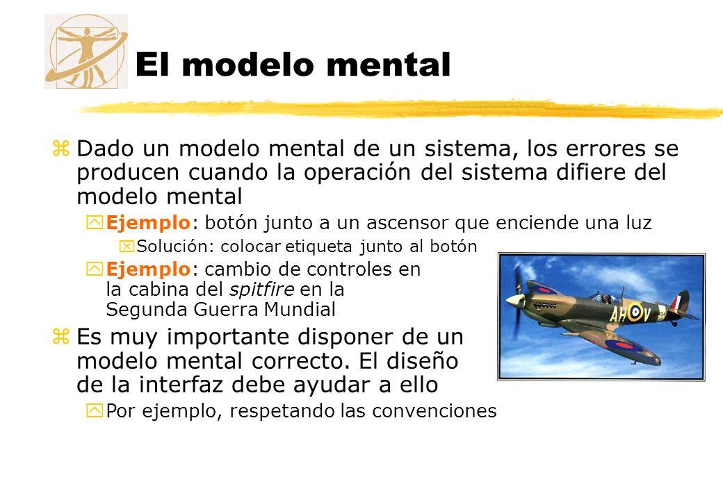 El modelo mental zDado un modelo mental de un sistema, los errores se producen cuando la operación del sistema difiere del modelo mental yEjemplo: bot