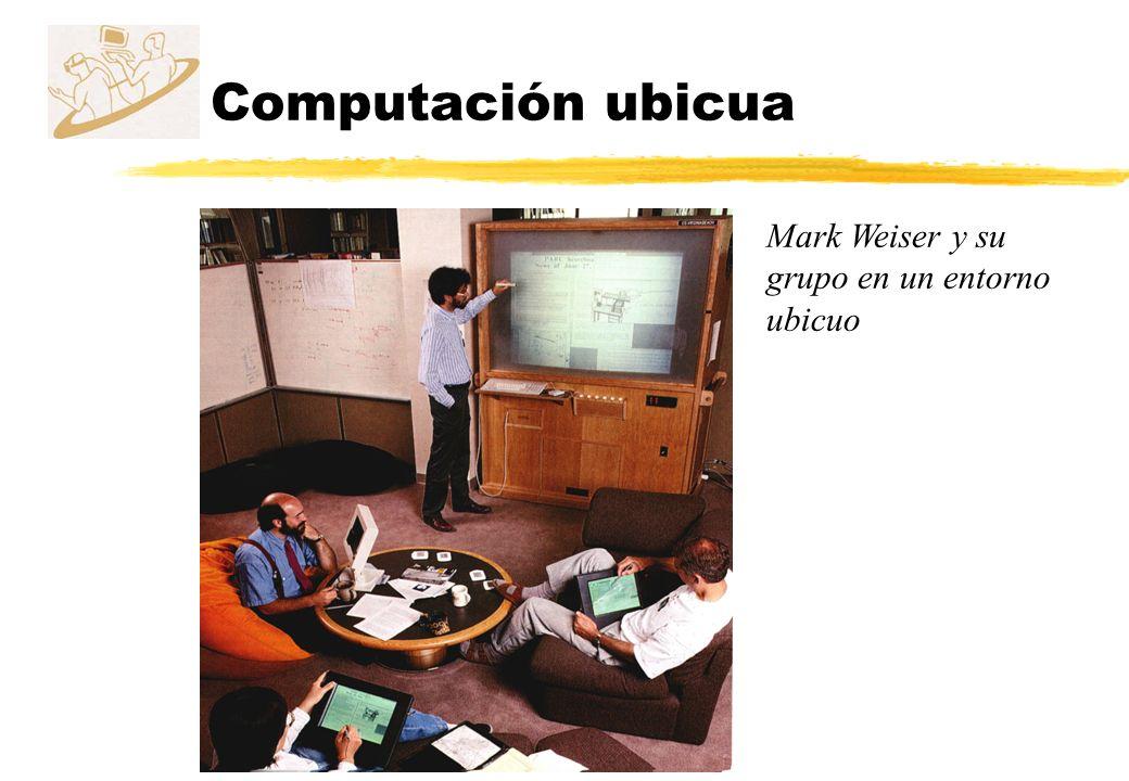 Mark Weiser y su grupo en un entorno ubicuo Computación ubicua