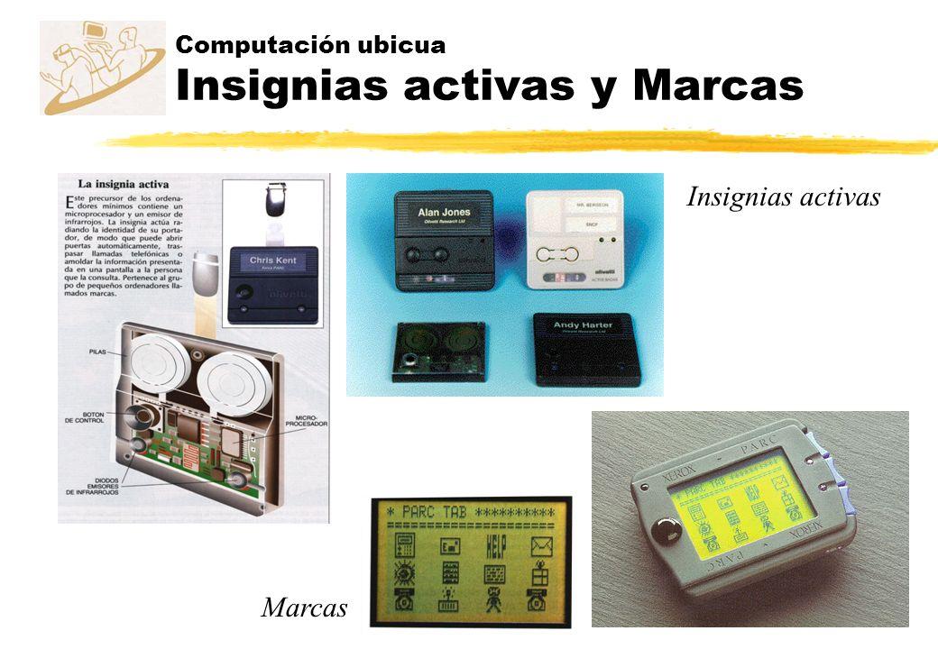 Computación ubicua Insignias activas y Marcas Insignias activas Marcas