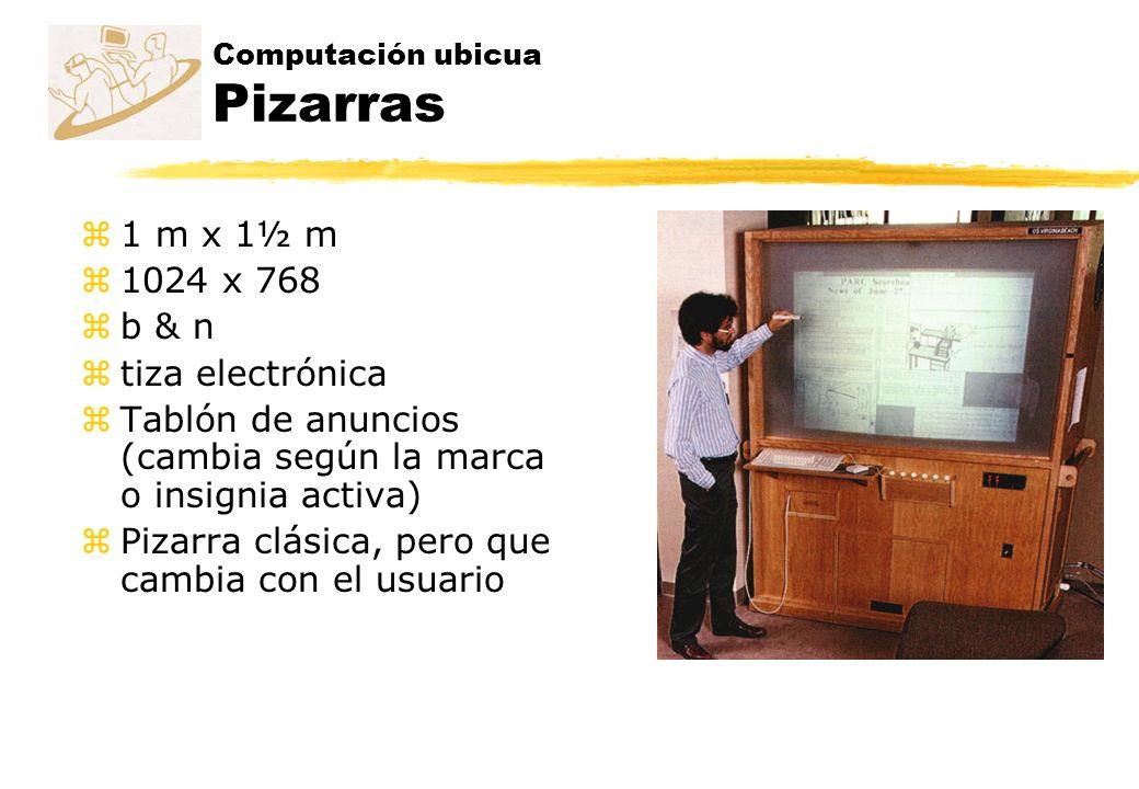 z1 m x 1½ m z1024 x 768 zb & n ztiza electrónica zTablón de anuncios (cambia según la marca o insignia activa) zPizarra clásica, pero que cambia con e
