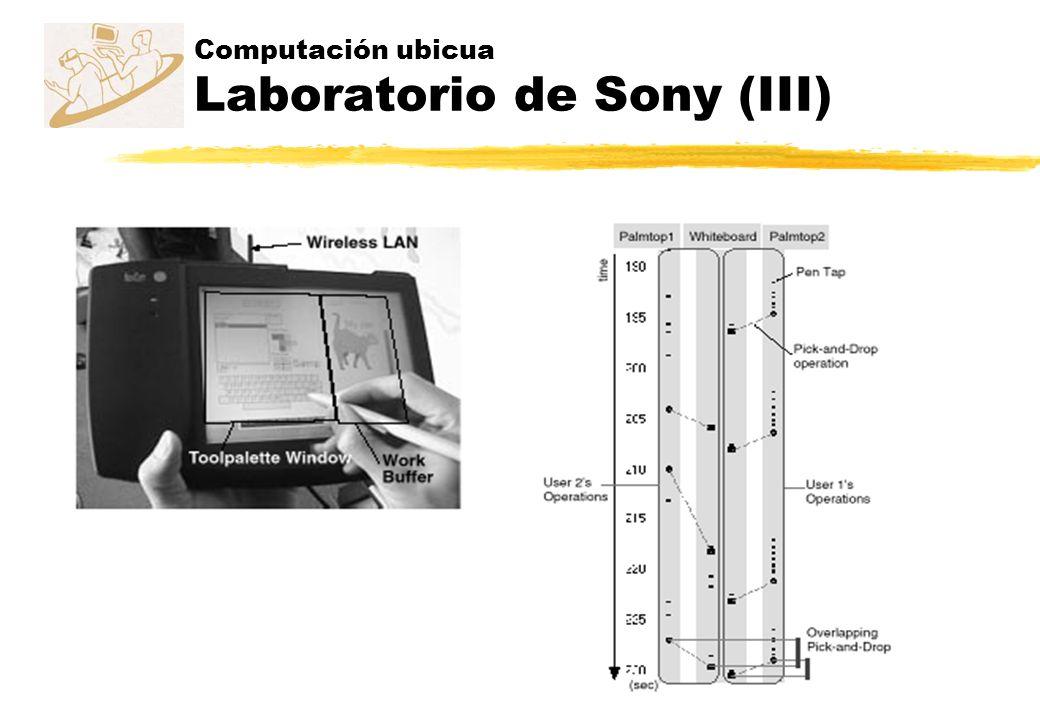 Computación ubicua Laboratorio de Sony (III)