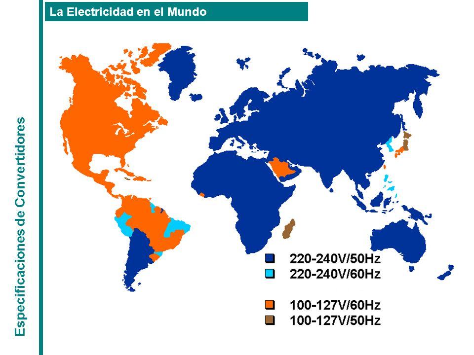 Especificaciones de Convertidores La Electricidad en el Mundo