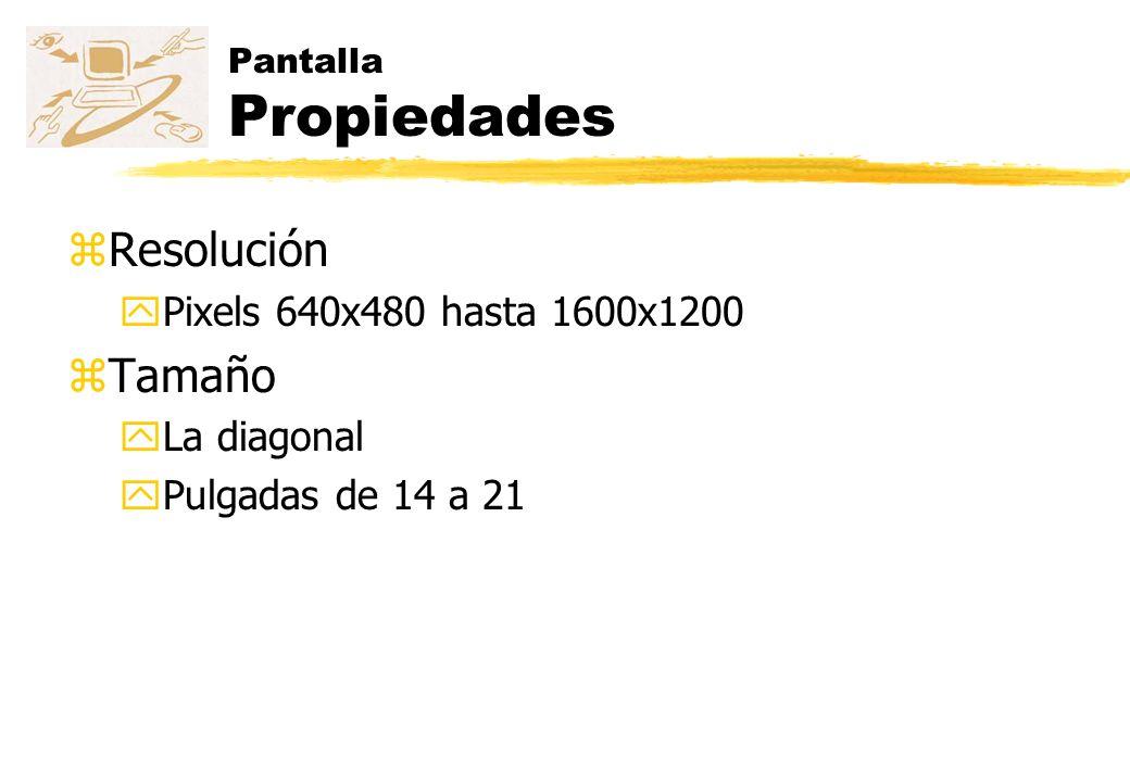 Controladora z PROPIEDAD Planos de memoria z 16 colores diferentes 4 z Nivel de brillo 1 z Parpadeo 1 z TOTAL 6 zMemoria requerida = 1024x1280 puntos x 6 planos/punto x 1 bit/plano = 7864320 bits 983040 bytes 960 Kbytes