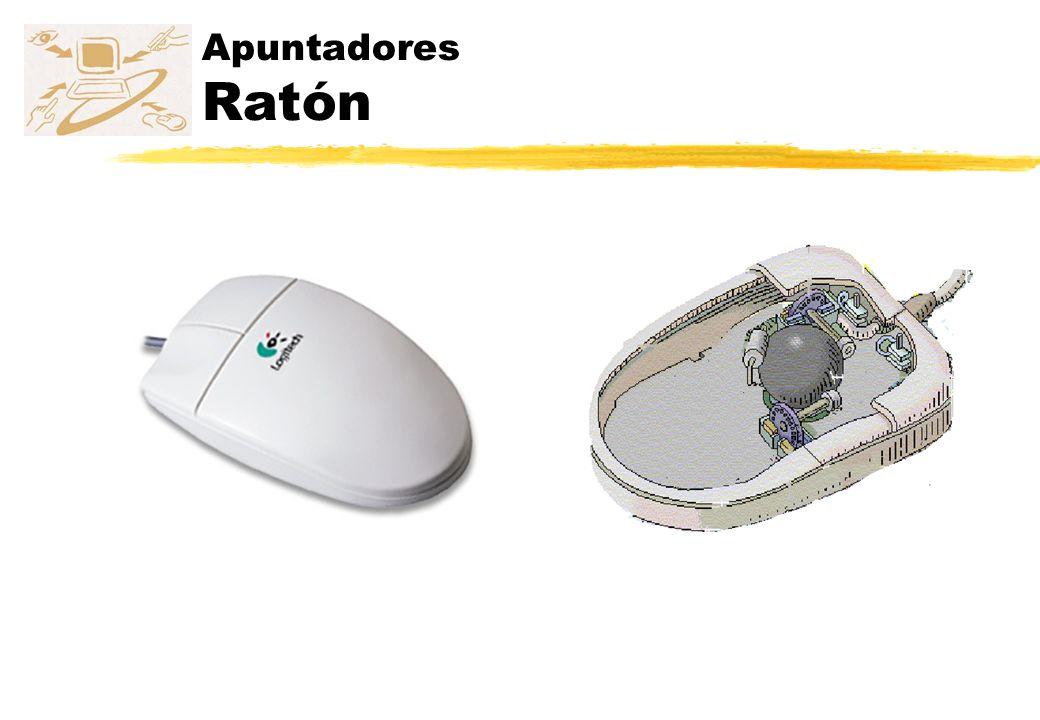 Apuntadores História del ratón z Doug Englebart z Inventor del ratón z 1968 z Xerox Parc