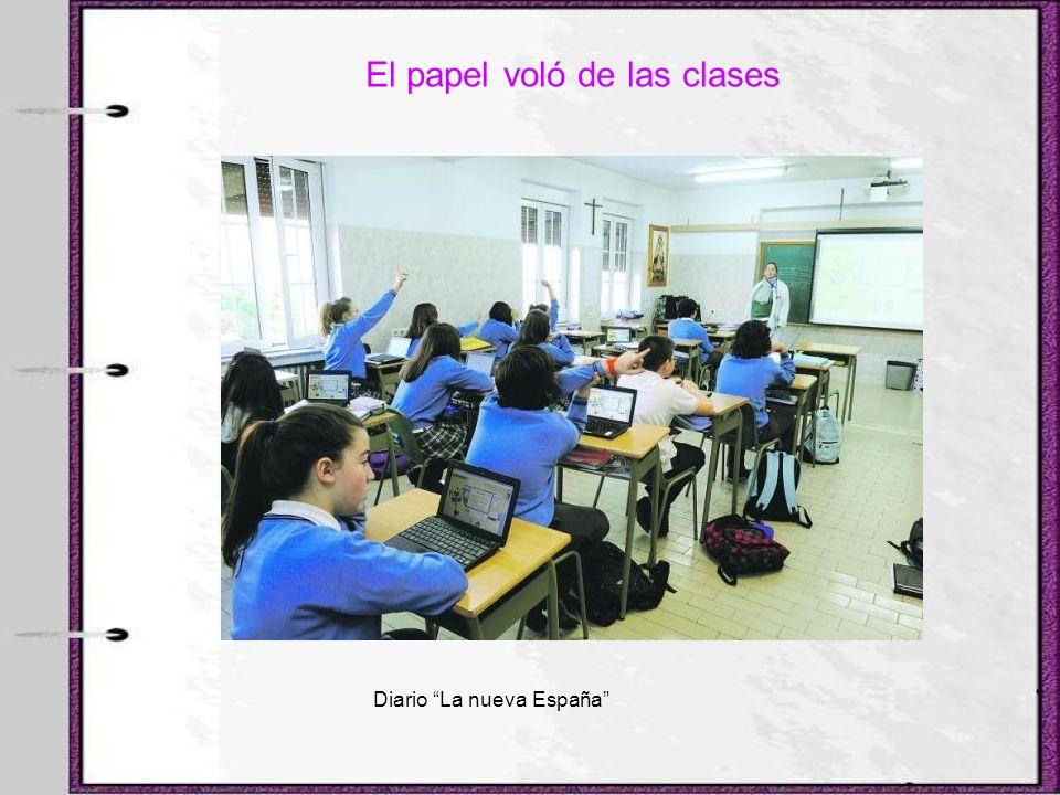 El papel voló de las clases Diario La nueva España