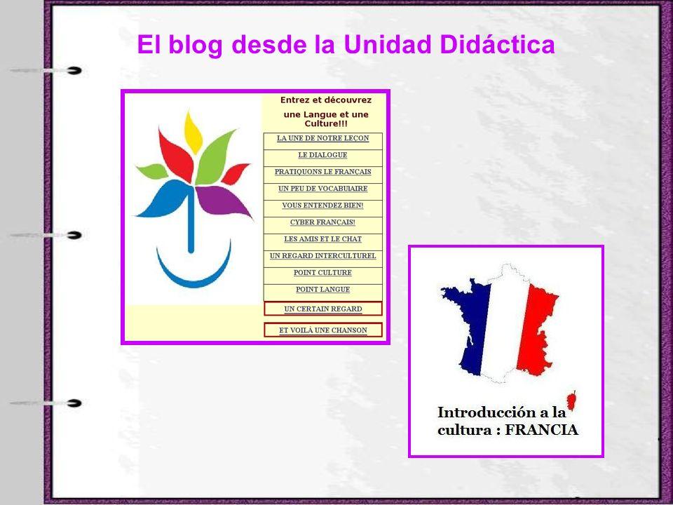 El blog desde la Unidad Didáctica
