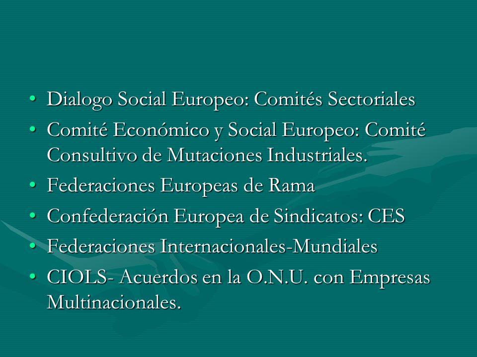 Dialogo Social Europeo: Comités SectorialesDialogo Social Europeo: Comités Sectoriales Comité Económico y Social Europeo: Comité Consultivo de Mutacio
