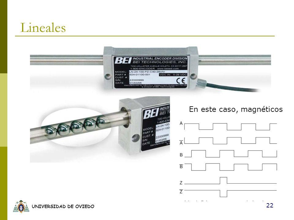 UNIVERSIDAD DE OVIEDO 22 Lineales En este caso, magnéticos