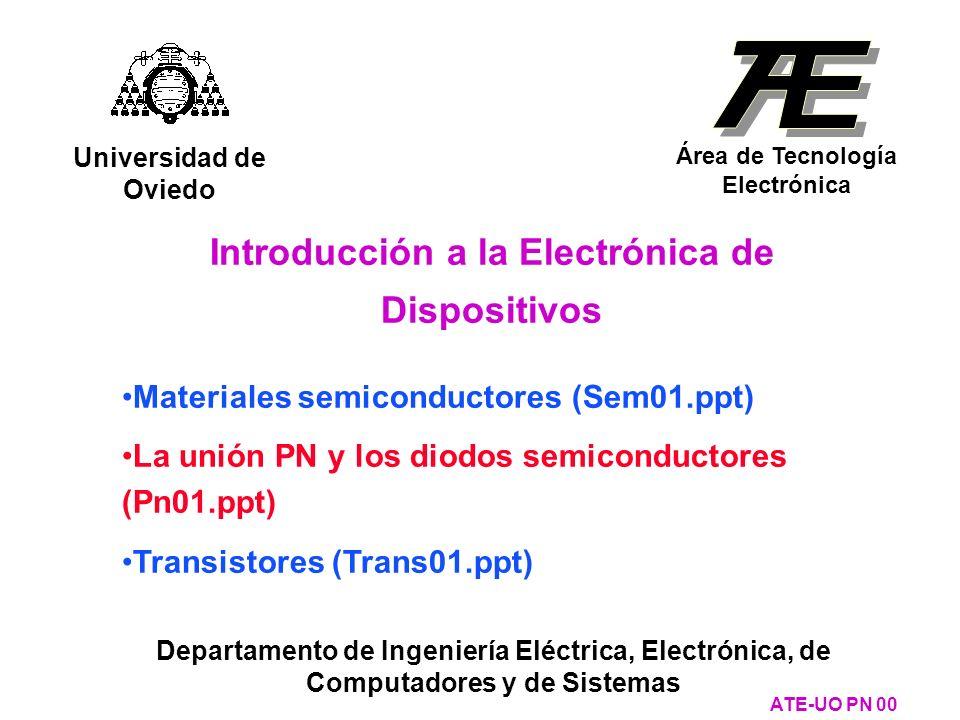 Otras uniones metal- semiconductor con comportamiento de contacto óhmico ATE-UO PN 131 El caso 4: m > s y semiconductor tipo P Con contactos metal-N + -N o metal-P + -P ECEC Estados vacíos Electrones Estados vacíos E Fm Electrones EVEV E Fs Metal N+N+ + + + + + + - - - - - - - - - - - - + + + + + + N + + + + + + - - - - - - Electrones ----- - Efecto tunel