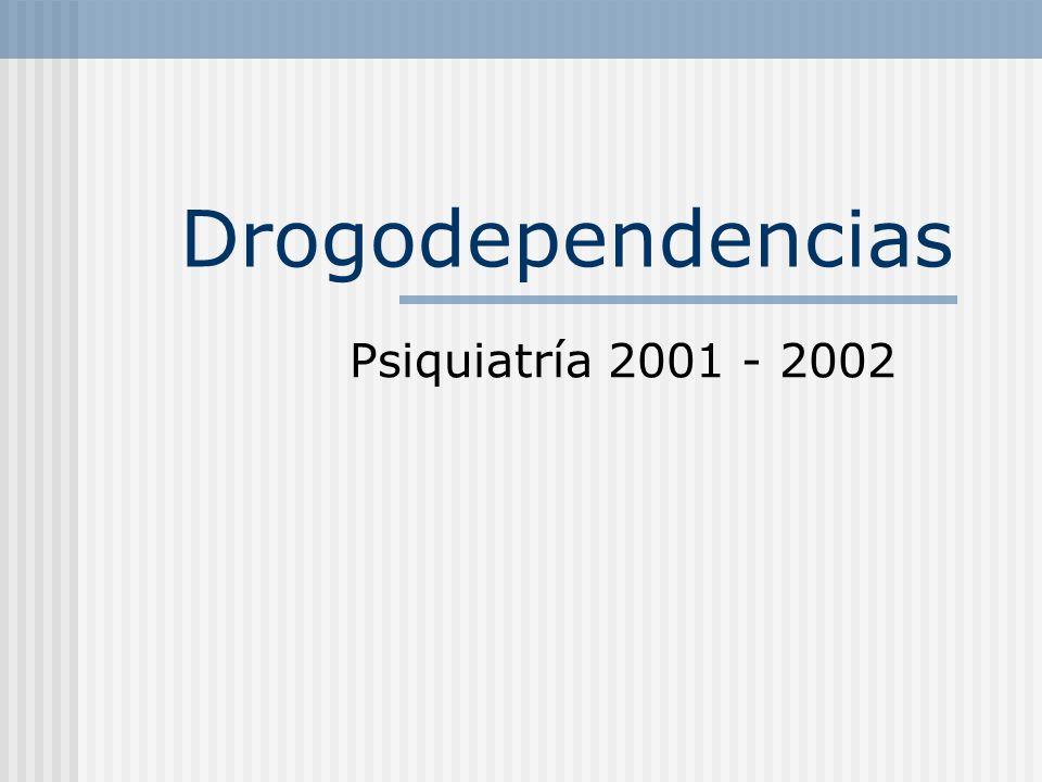 Agonistas opiáceos Metadona Dextropropoxifeno Dosis superiores a 1200 mg/día pueden producir crisis comiciales / psicosis tóxica