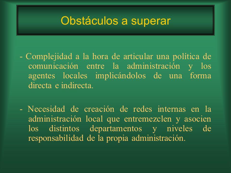 - Falta de concienciación y sensibilización ciudadana que conlleve a una baja participación en el plan.