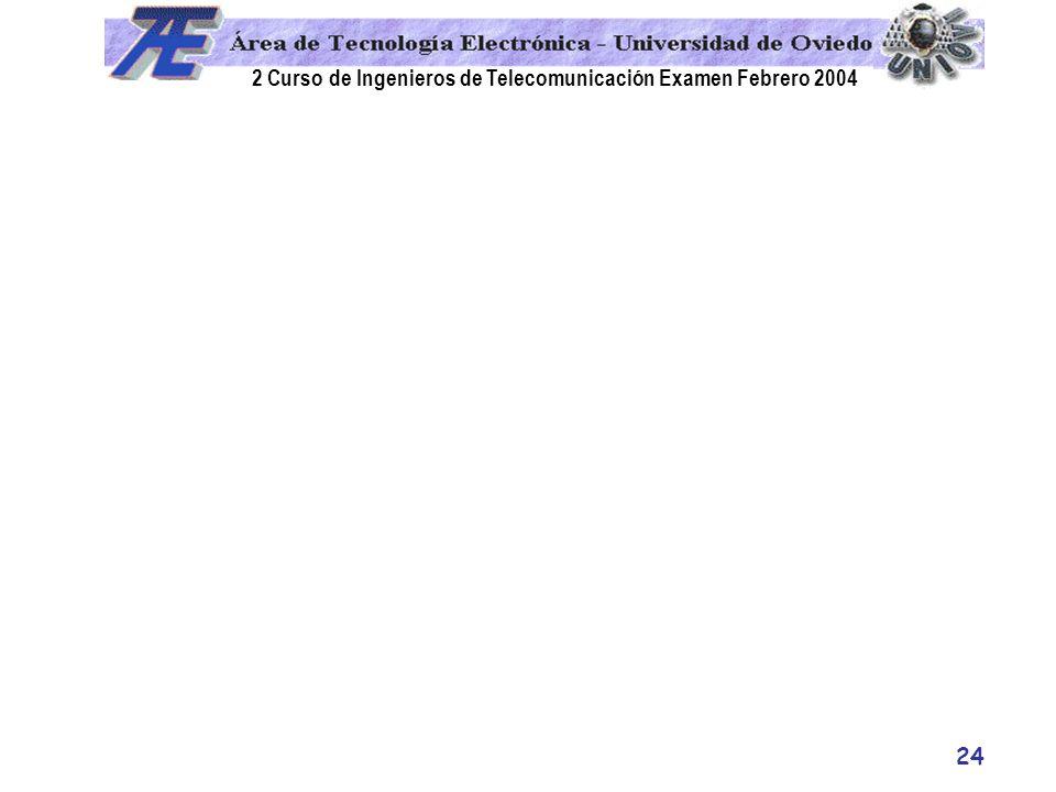 2 Curso de Ingenieros de Telecomunicación Examen Febrero 2004 24