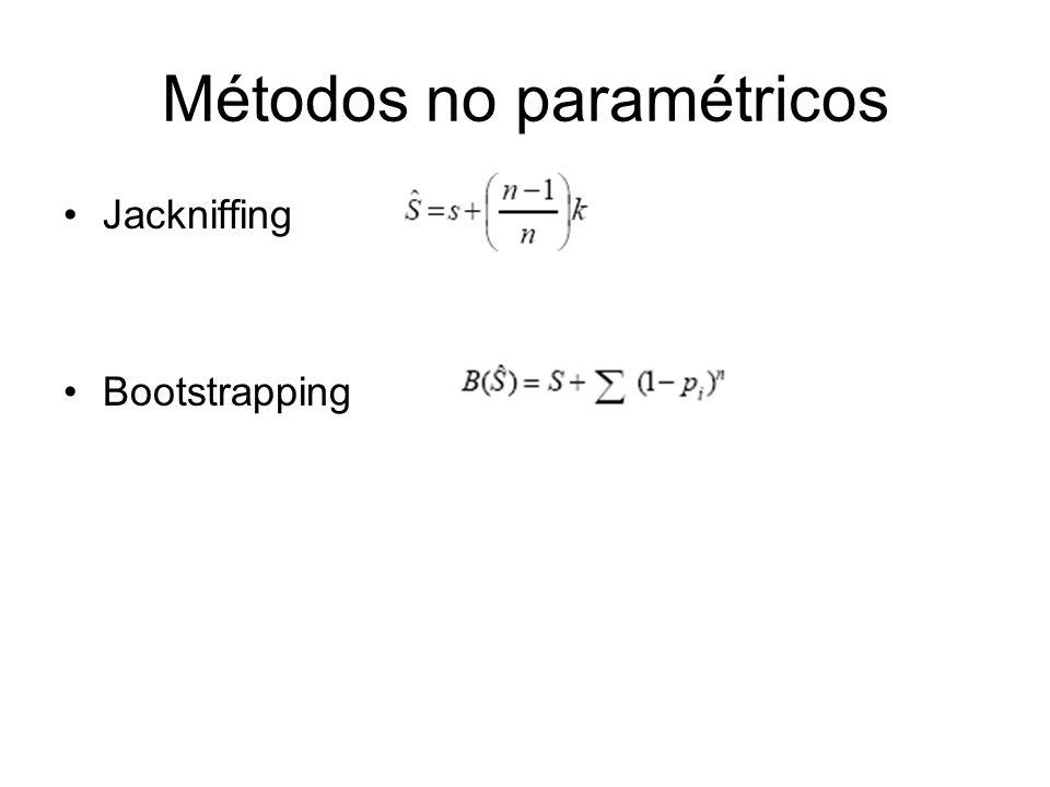Métodos no paramétricos Jackniffing Bootstrapping