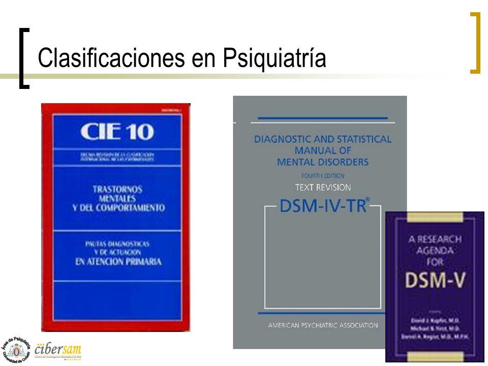 Clasificaciones en Psiquiatría