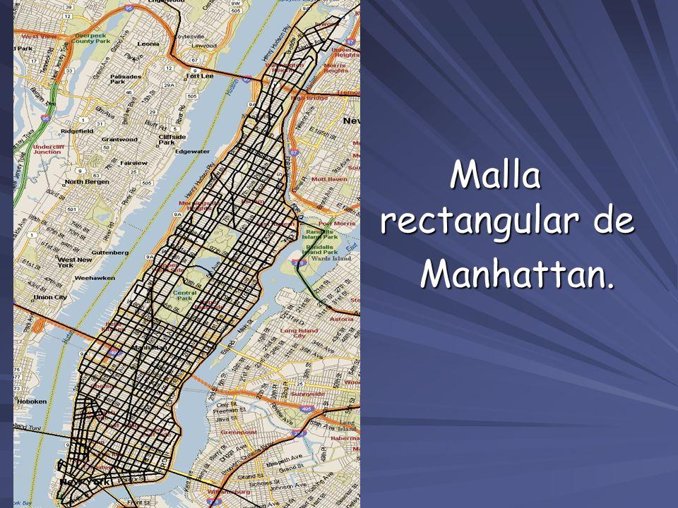Malla rectangular de Manhattan. Manhattan.