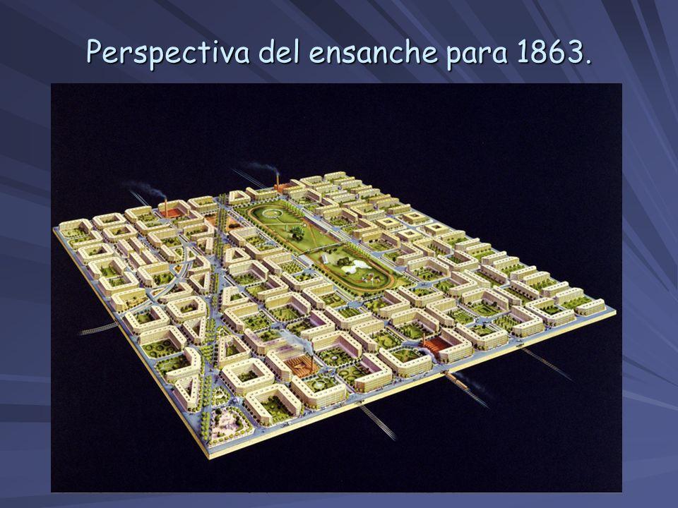 Perspectiva del ensanche para 1863.