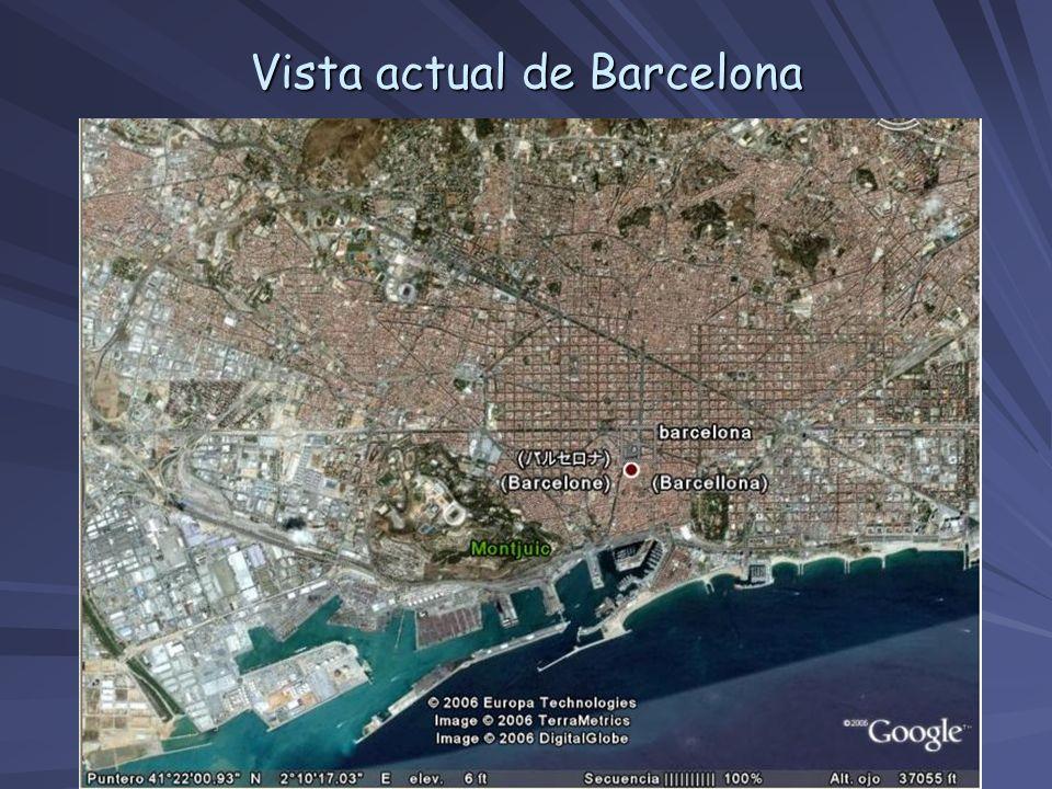Vista actual de Barcelona