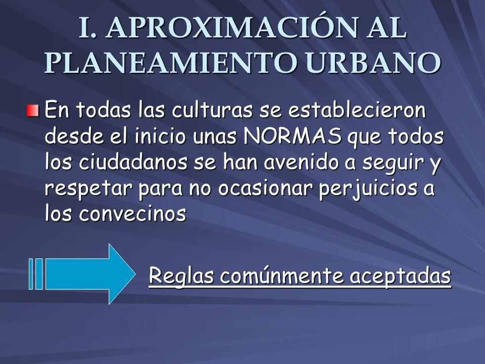 Los objetivos y limitaciones del planeamiento urbano Hay una serie de temas fundamentales para la ordenación del espacio urbano y municipal: Relaciones entre ciudades.