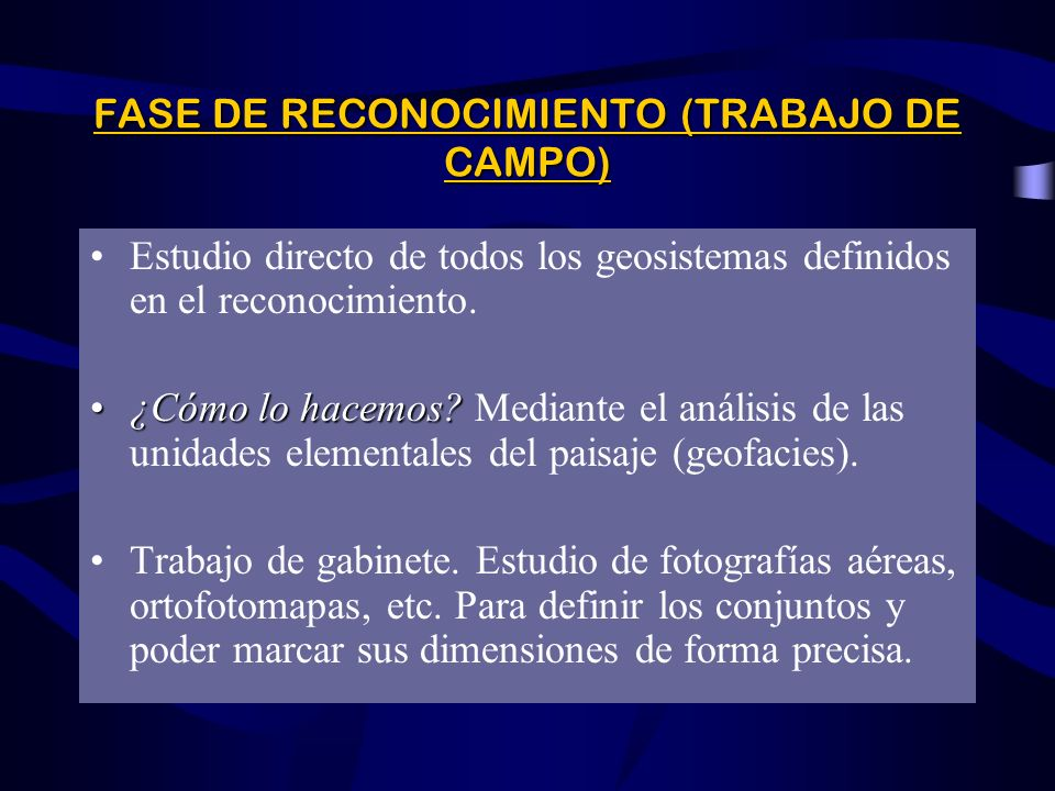 DEFINICIÓN DE LA ESTRUCTURA TAXONÓMICA Determinar el nivel del área de estudio dentro del sistema taxonómico sugerido por Bertrand. Definir y delimita