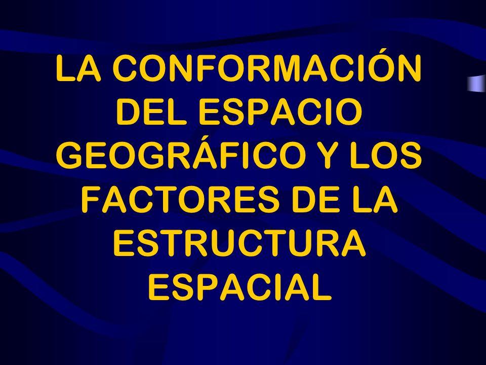 ÍNDICE LA CONFORMACIÓN DEL ESPACIO GEOGRÁFICO Y LOS FACTORES DE LA ESTRUCTURA ESPACIAL. EL DIAGNÓSTICO DEL MEDIO FÍSICO. LA DETECCIÓN DE LOS FACTORES