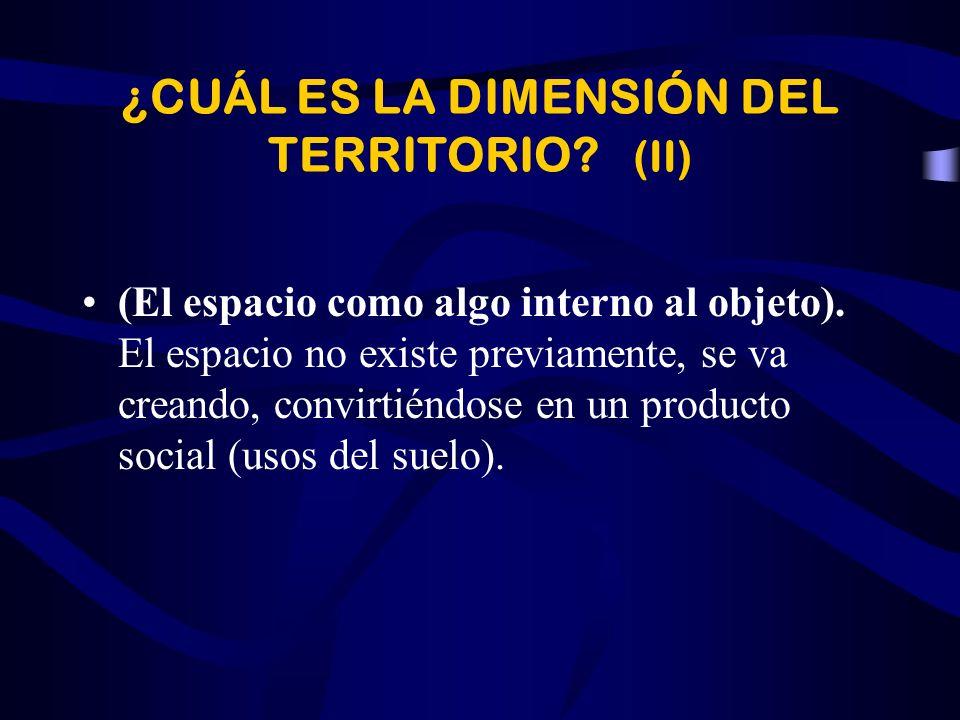 ¿CUÁL ES LA DIMENSIÓN DEL TERRITORIO? (I) (El espacio como algo exterior al objeto). Dos conceptualizaciones: espacio absoluto y espacio relativo. –El