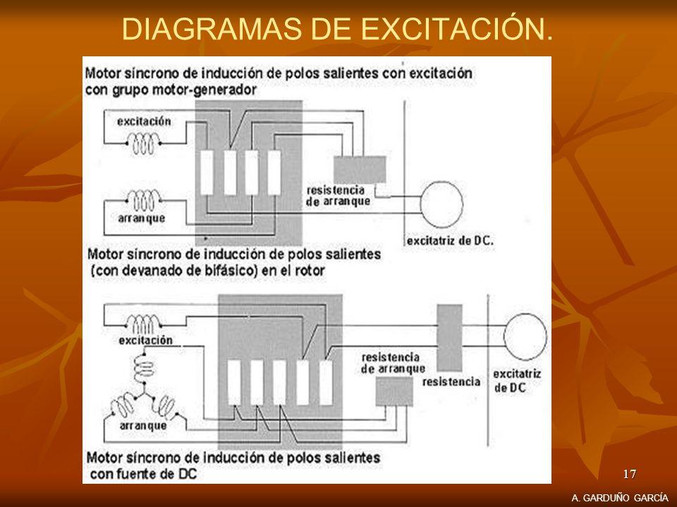 17 DIAGRAMAS DE EXCITACIÓN. A. GARDUÑO GARCÍA