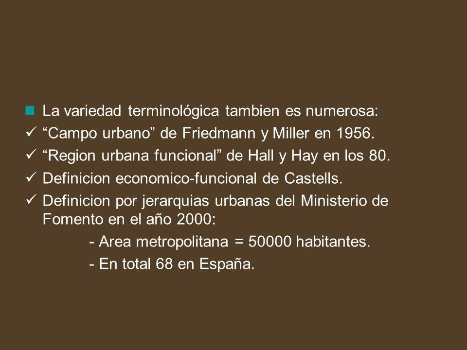 Modalidades de planificación para la ordenación de las áreas metropolitanas: Planes Territoriales Parciales: Bilbao y Barcelona.