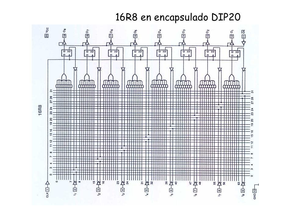 16R8 en encapsulado DIP20