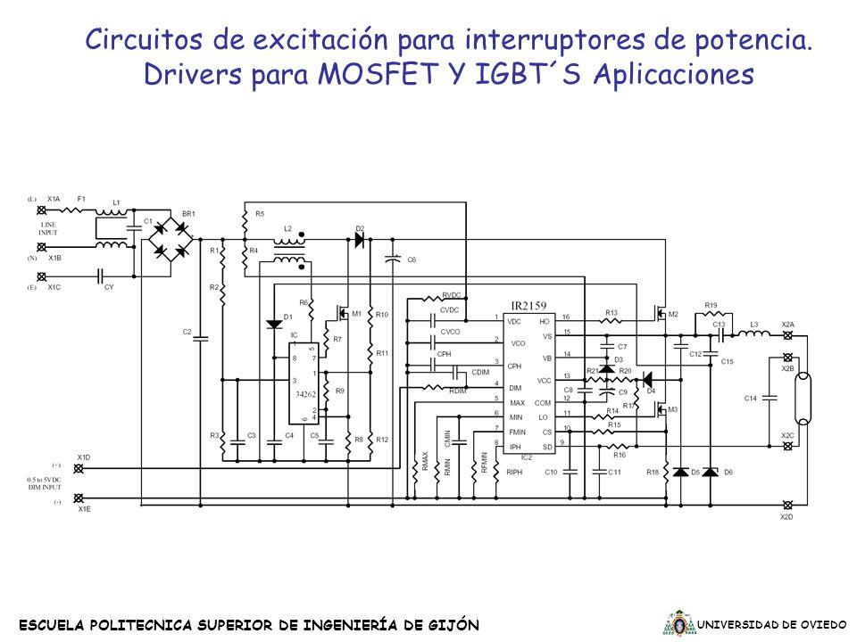 UNIVERSIDAD DE OVIEDO ESCUELA POLITECNICA SUPERIOR DE INGENIERÍA DE GIJÓN Circuitos de excitación para interruptores de potencia. Drivers para MOSFET