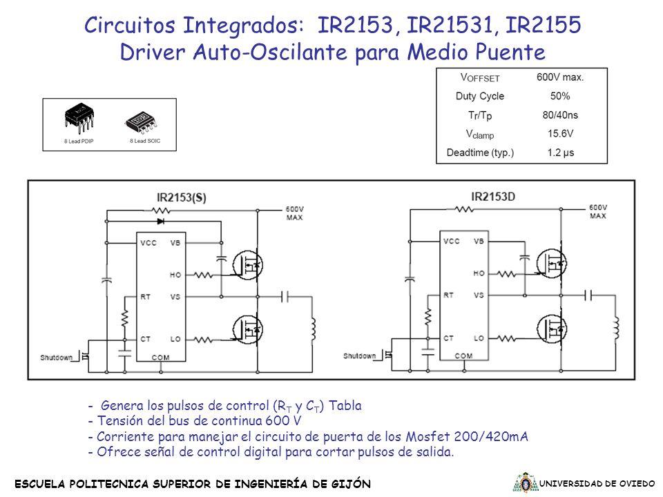 UNIVERSIDAD DE OVIEDO ESCUELA POLITECNICA SUPERIOR DE INGENIERÍA DE GIJÓN Circuitos Integrados: IR2153, IR21531, IR2155 Driver Auto-Oscilante para Med