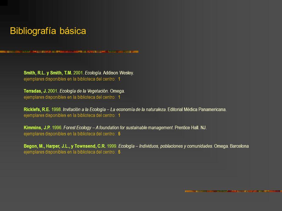 Bibliografía básica Gómez-Orea, D.1999. Evaluación del Impacto Ambiental.