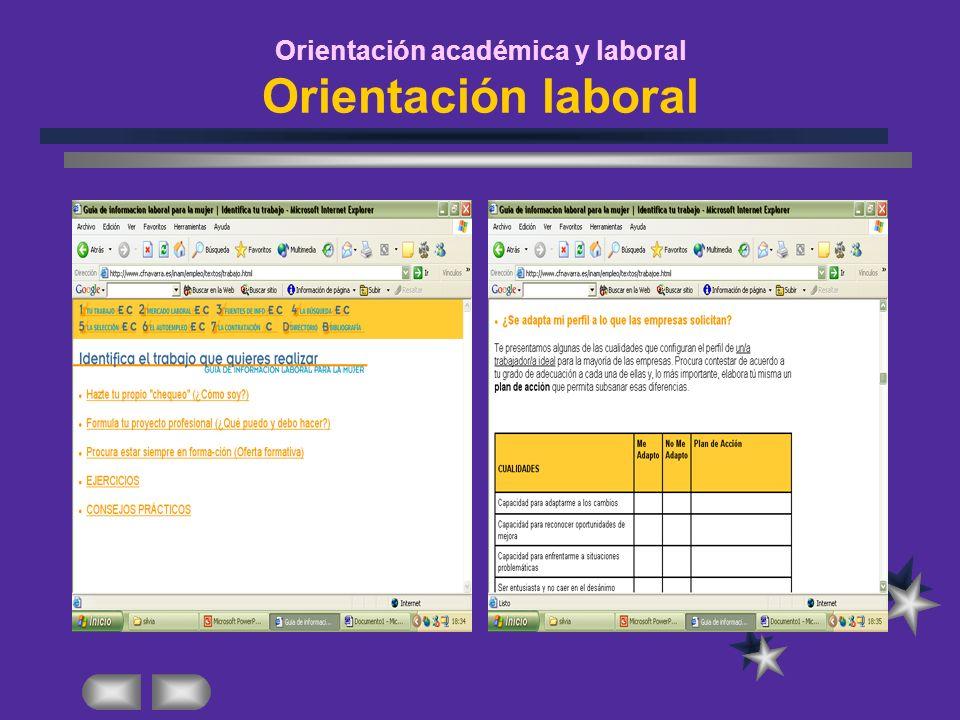 Orientación académica y laboral Orientación laboral