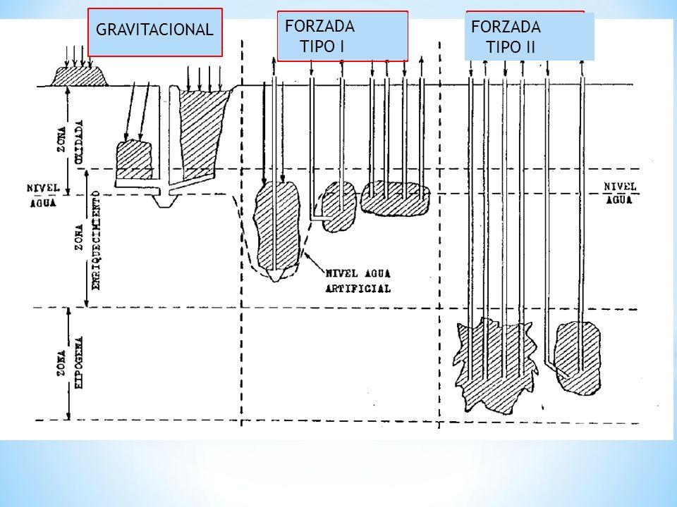 GRAVITACIONAL FORZADA TIPO I FORZADA TIPO II