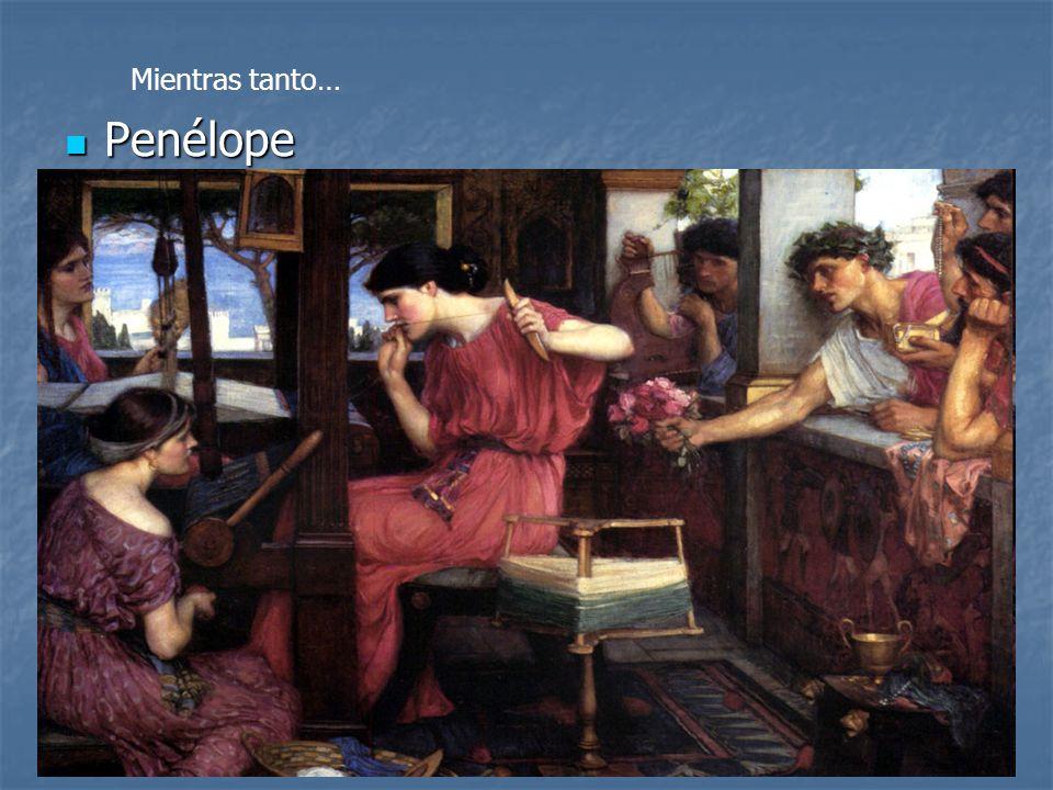 Penélope Penélope A lo largo de los 20 años, Penélope estaba sola junto con su hijo Telémaco hasta que llegó a creer que Ulises estaba muerto y a part